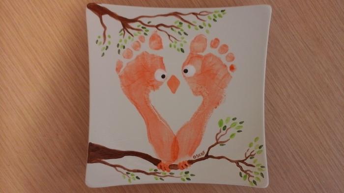 owl feet plate